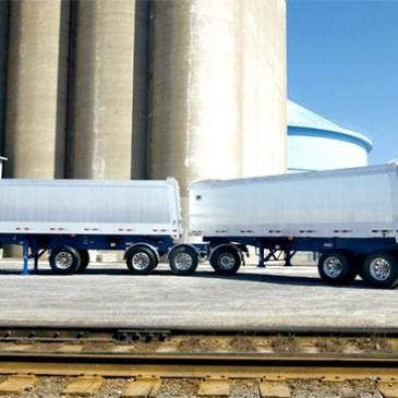 White oilfield trailer