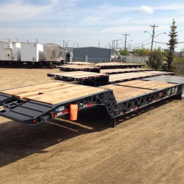 Used trailers on the lot